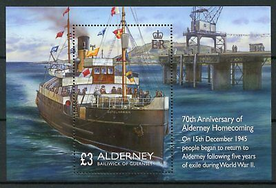 Alderney 2015 MNH Homecoming Second World War Two 70th Anniv 1v M/S WWII Boats