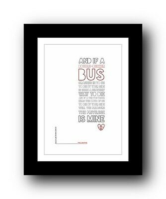 The Smiths ❤ There Is A Light That Never Goes Out ❤  typography poster art print