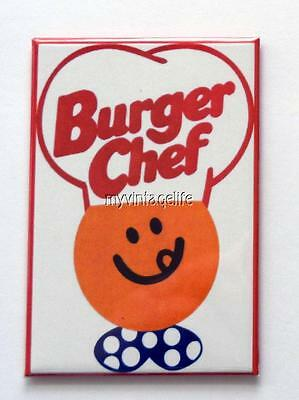"BURGER CHEF HAMBURGERS 2"" x 3"" Fridge MAGNET vintage Art FAST FOOD"