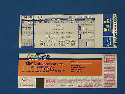 Nsync Unused Concert Ticket 5-31-01 & 6-1-01 Foxboro Stadium Very Gd Condition