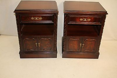 """Pair of Chippendale Style Mahogany Stamped """"Exlcusively Yours"""" Night Stands"""