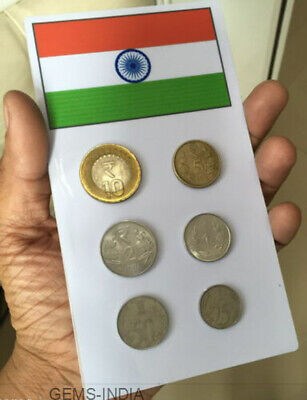 #INDIA Currency Coins Collector 6 coin set #Numismatics ADDITION TO COLLECTION