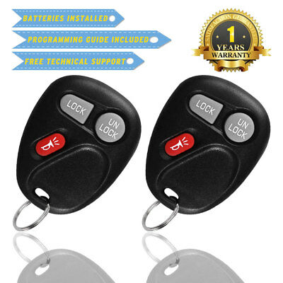 2Pcs Black Replacement Key Fob Keyless Entry Remote Control Clicker for 15042968