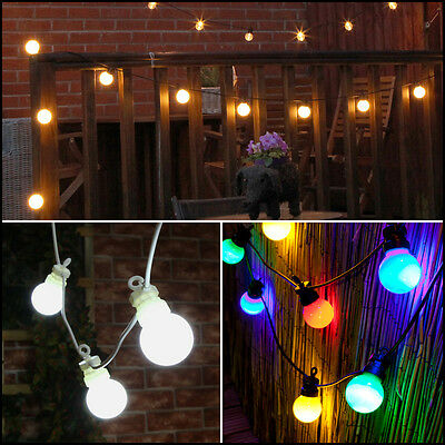 Connectable 20 Led Plug In Outdoor Garden Party Festoon Bulb Fairy String Lights