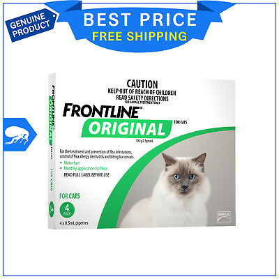 Frontline Original For Cats & Kitten Flea treatment 4 Pipettes by Merial AU Shop