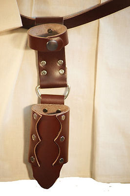 LARP-SCA-Cosplay-Roleplaying BROWN LEATHER FOAM WEAPON SMALL DROP SCABBARD