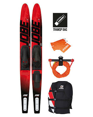 """Skis nautiques Package Allegre Red 67"""" (170cm) Jobe - pack tout compris"""
