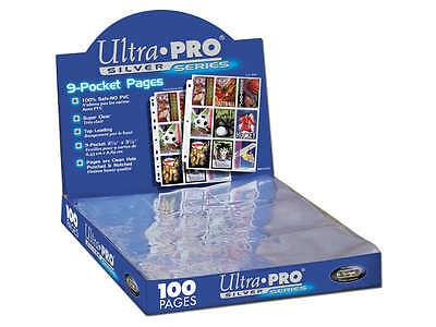 10 (TEN) PAGES x 9-Pocket Ultra Pro Silver Card Storage