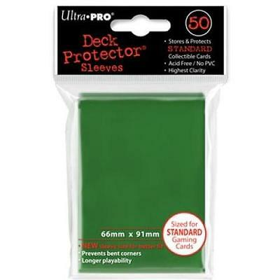 50 Count Green Ultra Pro Deck Protector Card Sleeves Storage Pokemon MTG Sports
