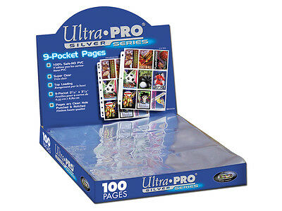 100 9-Pocket Pages Ultra Pro Silver Card Storage Box