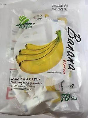 BANANA Toffee Chewy Milk Fruit Candy Product HAOLIYUAN Thai Snack ( No MSG )