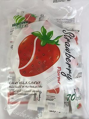 Strawberry Toffee Chewy Milk Fruit Candy Product HAOLIYUAN Thai Snack