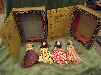 Vintage Lot of 4 Story Book Dolls By Americana Collection