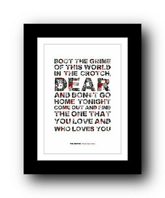 The Smiths ❤ Sheila Take A Bow ❤ song lyrics poster art limited edition print #2