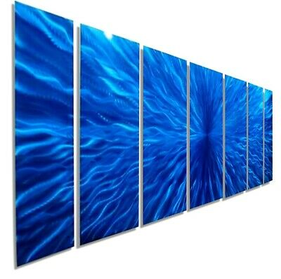 Statements2000 3D Metal Wall Art Panels Large Abstract Blue Painting Jon Allen