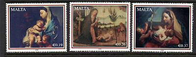 Malta Mnh 2008 Sg1607-1609 Christmas - Nativity Paintings Set Of 3