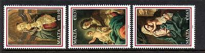 Malta Mnh 2009 Sg1635-1637 Christmas Set Of 3