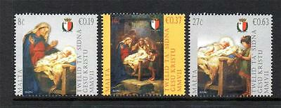 Malta Mnh 2007 Sg1574-1576 Christmas Set Of 3