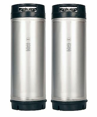 Homebrew Beer, Cider, Soda or Tea!  2 Pack 5 Gallon New Ball Lock Kegs w/Relief