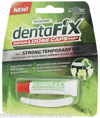 GENUINE Dentafix 7g Repair Loose Caps | Strong Temporary Tooth Fix Dental Cavity