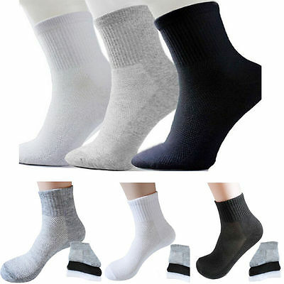 5 Pairs Men's Socks Winter Warm Casual Soft Cotton Sport Sock Breathable