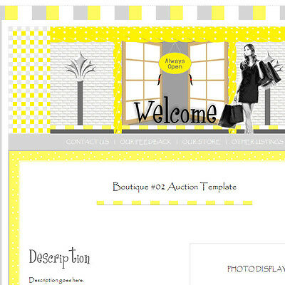 Boutique Chic Store Shop Style Ebay Listing Auction Template #04