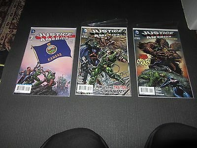 Justice League of America 1, 3, 4  DC New 52, NM