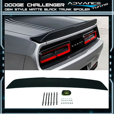 15-16 Dodge Challenger OE Style No Camera Hole Trunk Spoiler Matte Black - ABS