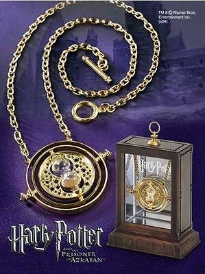 Harry Potter Time Turner Necklace Hermione Granger Rotating Spins Hourglass JH