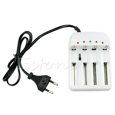 Universal Intelligent Li-ion/NiMH 18650/26650/AAA/AA Battery Charger 4 Output EU