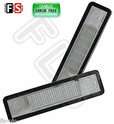 Vauxhall / Opel Led Car Number Plate Lights White Led 18Smd Canbus Error Free