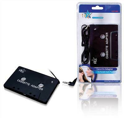 HQ Car Cassette Audio Tape to 3.5mm Adapter for Phones iPod iPhone Smartphones