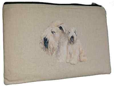 Wheaten Terrier Breed of Dog Padded Fabric Universal Storage Tablet Case