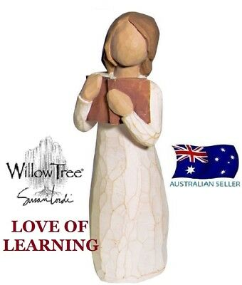 LOVE OF LEARNING Demdaco Willow Tree Figurine By Susan Lordi BRAND NEW IN BOX