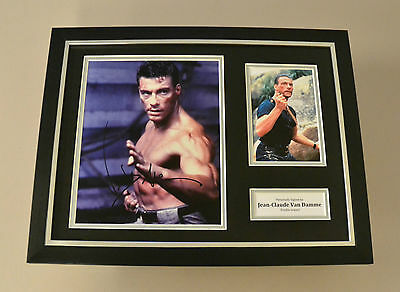 Jean-Claude Van Damme Signed Framed 16x12 Photo Double Impact Autograph Display
