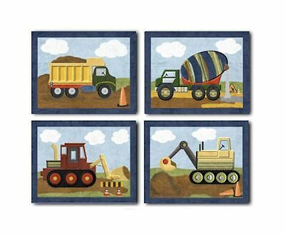 Construction Christopher WALL ART FOR NURSERY, kids, boys room bedding decor