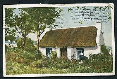 View of a Thatched Cottage. Postmark County Down. Posted 1946