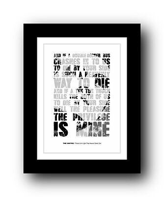 The Smiths ❤ There Is A Light That Never Goes Out typography poster art print #2
