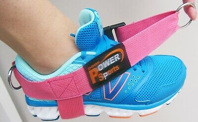 PINK 3-D Foot/Ankle Strap 3-RING  sold Single -Gym/Fitness/Yoga/Training