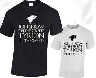 Jon Snow On The Streets Mens T Shirt Game Of Thrones Tyrion Stark Lannister Top