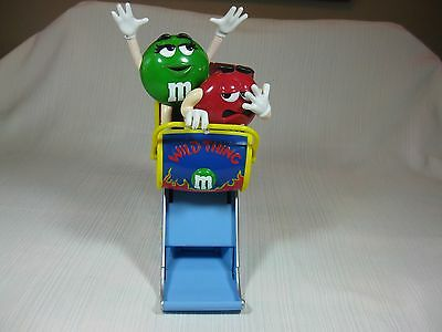 M&M's Wild Thing Roller Coaster Candy Dispenser Plastic Green & Red M Characters