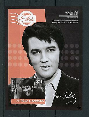Antigua & Barbuda 2015 MNH Elvis Presley His Life Stamps 1v S/S I Change Habit