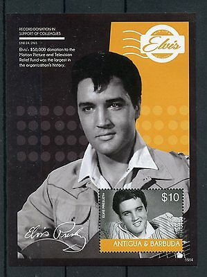 Antigua & Barbuda 2015 MNH Elvis Presley His Life in Stamps 1v S/S III Donation