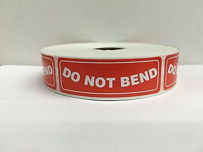"DO NOT BEND Handle With Care Shipping Mailing (1""x3"" 100/Roll)"