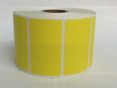 1000 Labels YELLOW  2.25x1.25 Direct Thermal REMOVABLE Zebra LP2824 LP2844