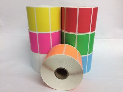 7 Rolls ONE Roll Per Color 2.25x1.25 Direct Thermal 1000 Labels P/R Zebra 2824