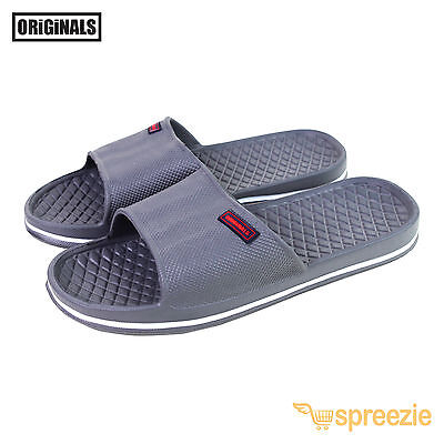 Grey Men's Sandals Sport Slides Slip On Beach Slippers House Shoes Footwear New