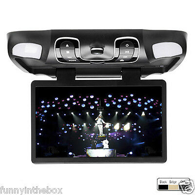"""15.6"""" Roof Mount Car DVD Player Flip Down Monitor"""