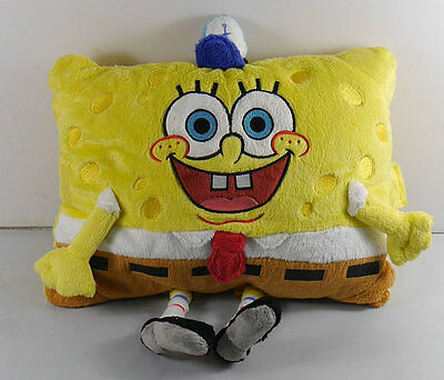 NEW SpongeBob SquarePants Pillow Plush 12 inch Pillow/Toy SOFT! Without tags