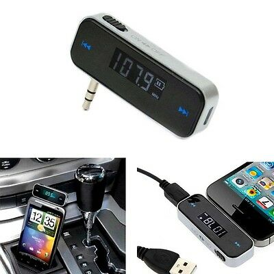 3.5mm Wireless In-car FM Transmitter for iPhone 5 6 6S Samsung Galaxy S4 S5 S6